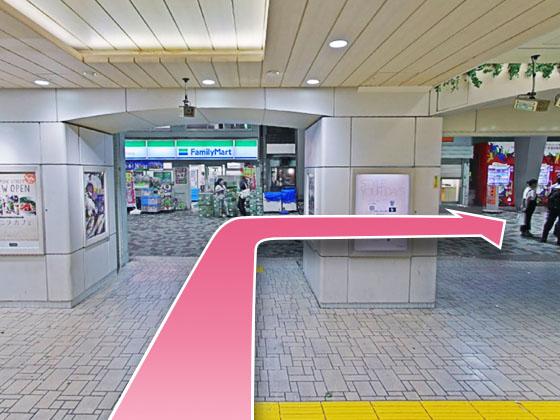 東京中央美容外科銀座有楽町院JRルート02