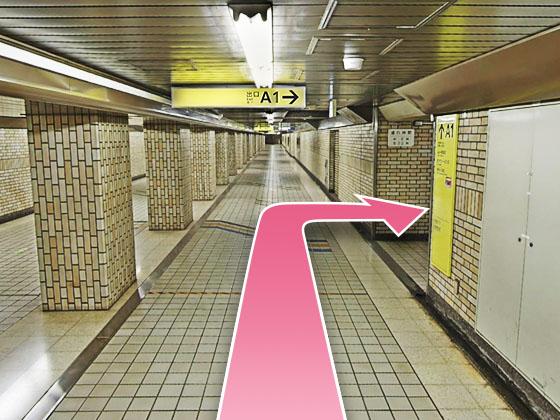 東京中央美容外科銀座有楽町院日比谷駅ルート02