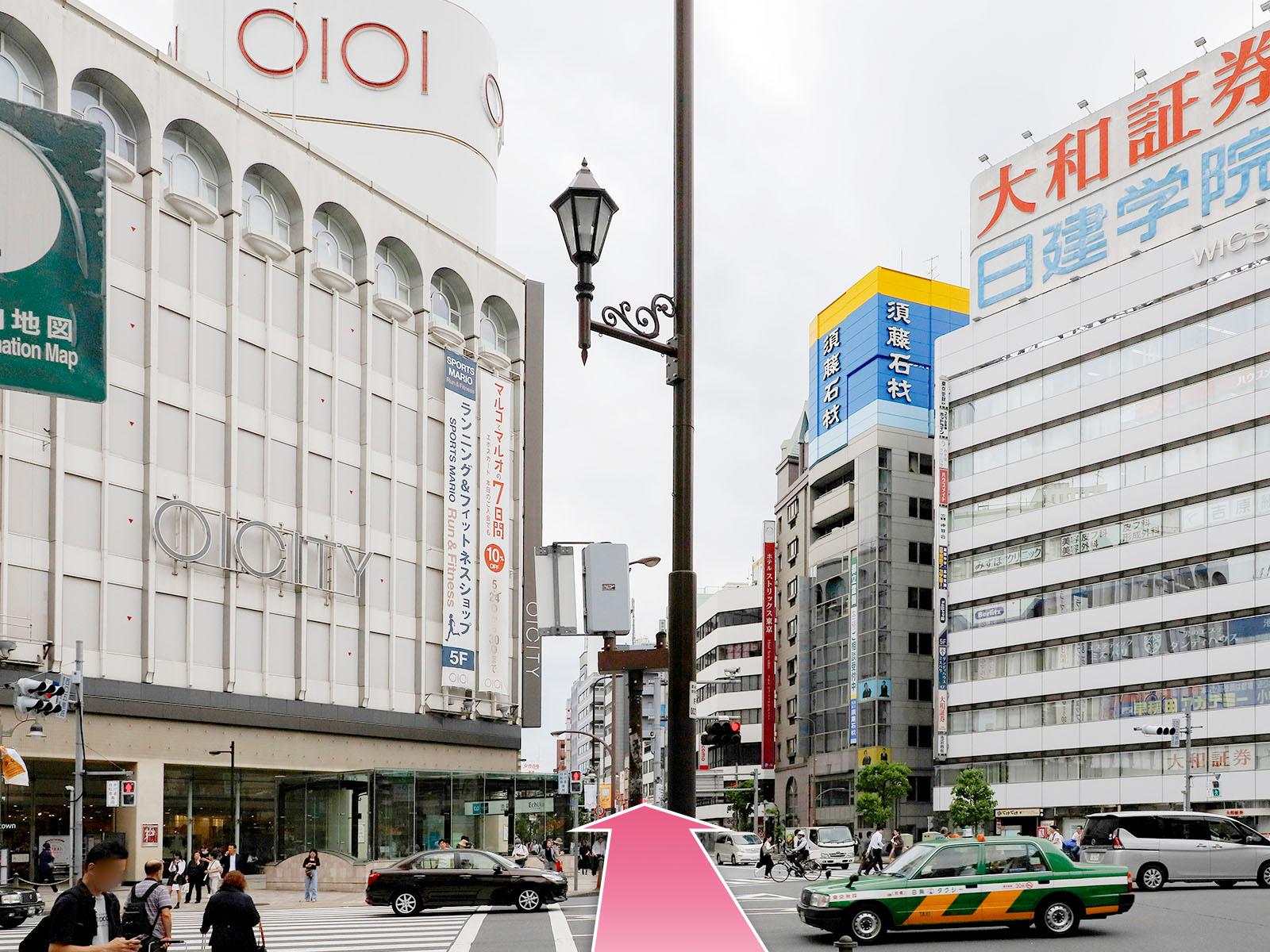 東京中央美容外科池袋西口院池袋駅西口地上出口ルート04