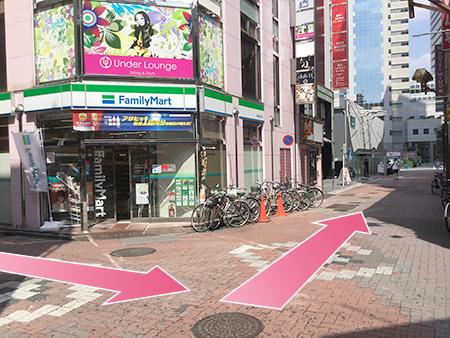 東京中央美容外科新宿院JRルート09