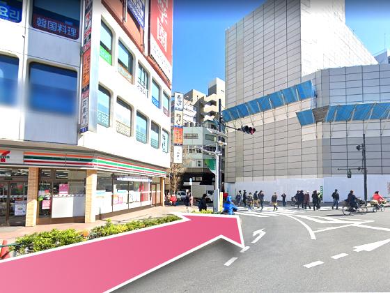 東京中央美容外科高田馬場院JRルート04