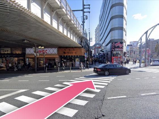 東京中央美容外科上野院JRルート02