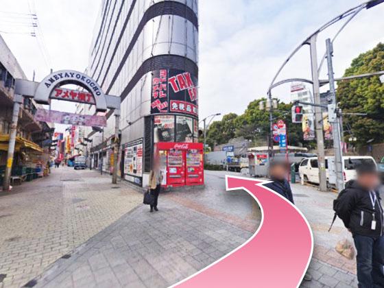 東京中央美容外科上野院JRルート03