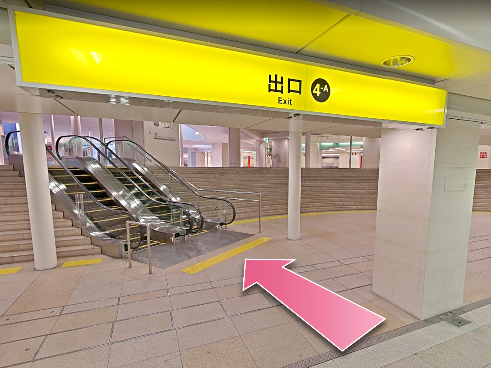 東京中央美容外科梅田院西梅田駅ルート01