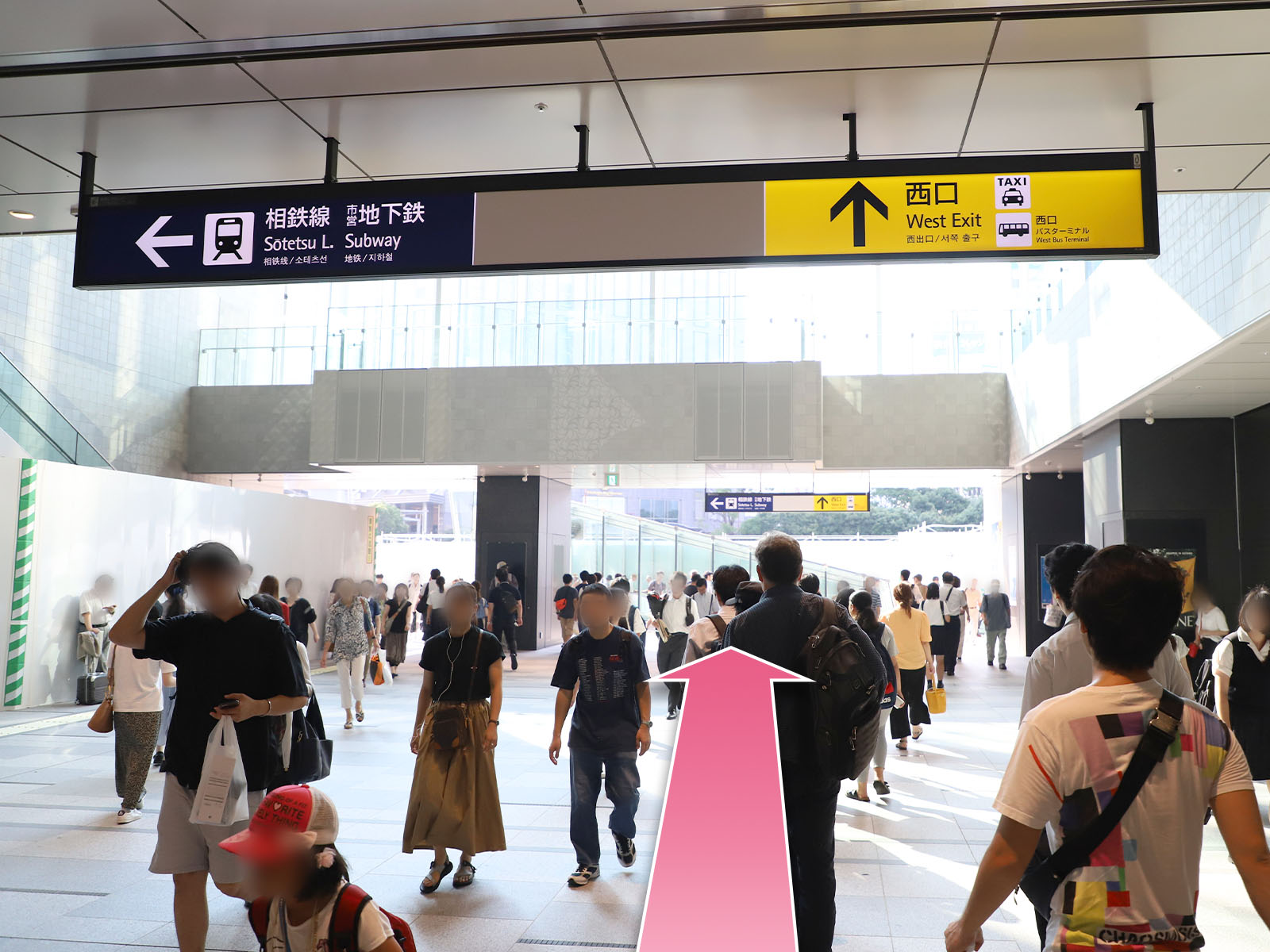 東京中央美容外科横浜院JR線ルート02