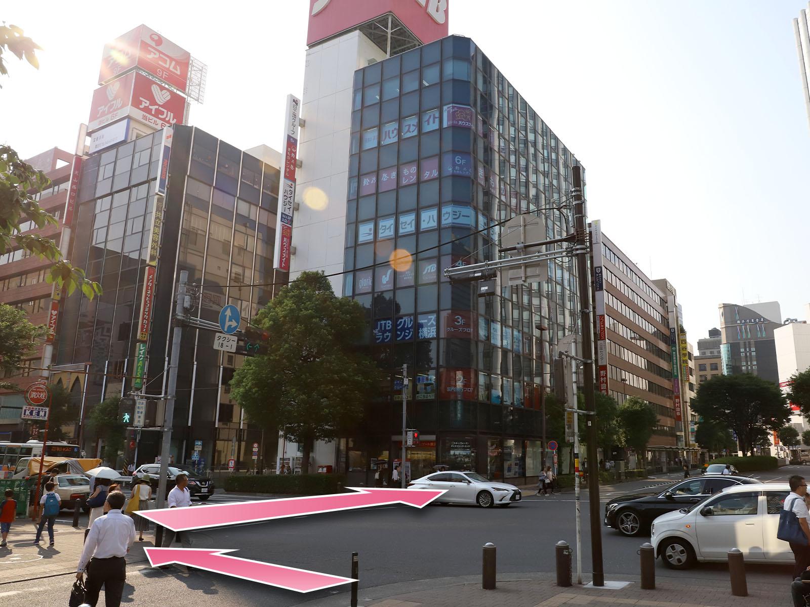 東京中央美容外科横浜院JR線ルート06